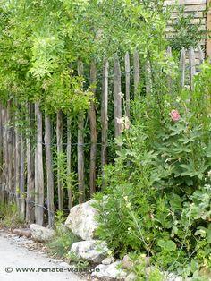 Gartenzaun aus Kastanienholz