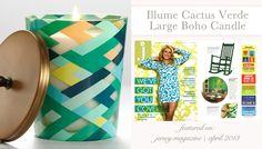 Illume Cactus Verde Large Boho Candle Featured in Jersey Magazine @Layla Grayce