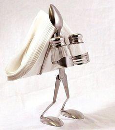 Fork Art, Spoon Art, Metal Art Projects, Metal Crafts, Home Crafts, Diy And Crafts, Arts And Crafts, Art Crafts, Silverware Jewelry