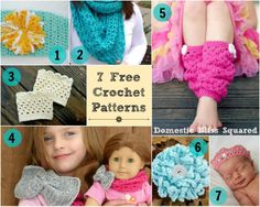 Domestic Bliss Squared: Crochet Madness: a giveaway winner plus 7 of our favorite (free!) crochet patterns!
