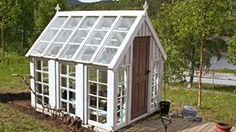 Byg et drivhus af gamle vinduer