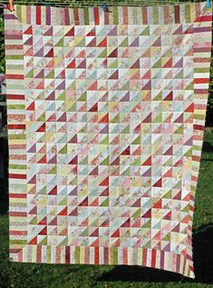 The shirt quilt is finished, but I was waiting for the weather to brighten up to photograph it. It's been so gloomy lately it was quite a s...