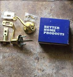 Brass Passage Door Lever Set for Hallways  Closets Better Home Products #30103PB  | eBay