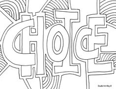 educational coloring page words