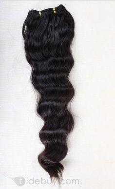 22インチは約最高品質のブラジルのバージンヘア波状100%の人間の毛髪