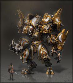 concept robo by armandeo64.deviantart.com on @deviantART #armor #gold
