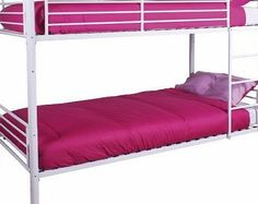 Right Deals UK Florida Metal Bunk Bed 2 X 3ft Singles White Powder Coated Frame No