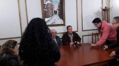 Conferencia de prensa al Gobernador de la Región A Marcelo Nascimbene.