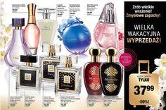 Widzieliście już promocję? ☀️☀️☀️ Na stronie 18-19 katalogu nr 10 -50% na każdy zapach :)  Warto skorzystać!  Oferta trwa tylko do 25.07 Avon, Oasis, Perfume Bottles, Beauty, Beauty Illustration