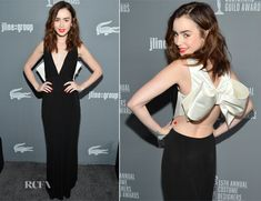 Lily Collins In Paule Ka – 15th Annual Costume Designers Guild Awards.  so sexy and cute in this dress.