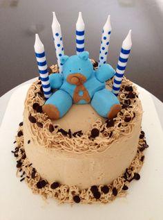 Teddy bear mocha cake