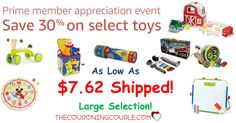 Only 103 Day until Christmas! Start grabbing those HOT deals on toys! Save up to 30% on Highly Rated Toys at Amazon! As low as $7.62! Click the link below to get all of the details ► www.thecouponingc... #Coupons #Couponing #CouponCommunity Visit us at www.thecouponingc... for more great posts!