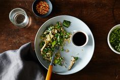 (Eggless) Fried Rice with Ginger, Bok Choy, and Peas, a recipe on Food52 (vegan!)