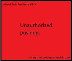Unauthorized pushing.