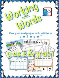 Working with Words Phonics 2 Sounds of Y
