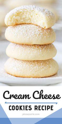 Baking Cookies, Sugar Cookies Recipe, Cookie Desserts, Cookie Jars, Just Desserts, Cookie Recipes, Delicious Desserts, Yummy Food, Cream Cheese Cookie Recipe