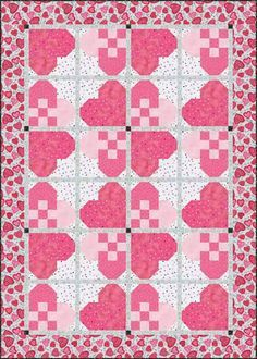Quilt Inspiration: Free pattern day: Hearts and Valentines 2015