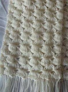 Crochet Scarf - Free Crochet Diagram - (woman7)