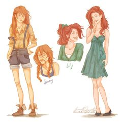 "I love how they have different shades of red hair. People are always like ""Ginny looks just like Lily!"""