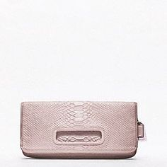 Coach hamptons weekend embossed python flap clutch - love this