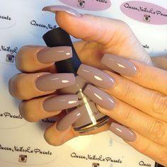 Coffin shape nails: