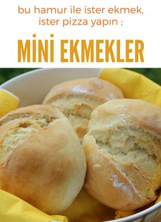 Mini Ekmekler – Nefis Yemek Tarifleri – – Sandviç tarifi – The Most Practical and Easy Recipes Yummy Recipes, Pita Recipes, Pastry Recipes, Yummy Food, Healthy Recipes, Healthy Food, Bread Recipes, Homemade Hamburger Patties, Homemade Hamburgers