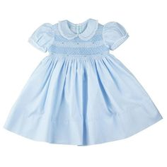 Celebrate in style when you dress you little girl in this beautiful smocked dress, so perfect for all the joyous celebrations. Beautifully designed with a Frenc
