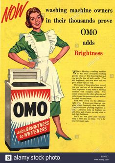 1950s UK Omo Magazine Advert Stock Photo