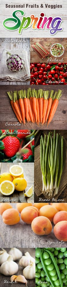 Spring Fruits & Veggies