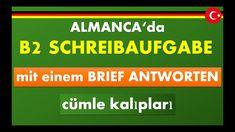 ALMANCA sınav hazırlık B2 mektup örnekleri ögreniyorum I Almanca ögretiy...