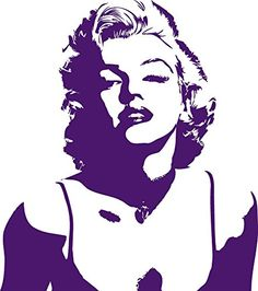 Get Marilyn Monroe Silhouette Version 4 Vinyl Wall Art Decal at Wall Decals Quotes Marilyn Monroe Dibujo, Marilyn Monroe Stencil, Marilyn Monroe Fotos, Marilyn Monroe Painting, Marylin Monroe, Pop Art, Silhouette Art, Couple Silhouette, Street Art