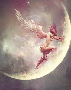 angel, Russian artist creates amazing fantasy portraits inspired by the Slavic mythology - ViewKick Fantasy Creatures, Mythical Creatures, Fantasy Women, Fantasy Art, Fantasy Races, Fantasy Landscape, Digital Portrait, Digital Art, Digital Paintings