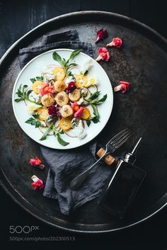 Scallop grilled salad. by mackinpo
