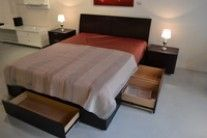 Our - shown here in our Front Street showroom Bed Parts, Modern Furniture Stores, Bedroom Bed, Best Sellers, Showroom, Beds, Drawers, Bedding, Street