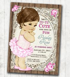 1st Birthday Invitation For Girl