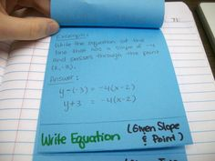 Math = Love: Point-Slope Form Foldable