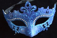 Masquerade Party Masks - Pin it :-) Follow us .. CLICK IMAGE TWICE for our BEST PRICING ... SEE A LARGER SELECTION of Masquerade Party Masks at http://azgiftideas.com/product-category/masquerade-party-masks/ halloween masks, mardi gras masks, dress up costumes Blue Laser Cut Venetian Mask Crystal Halloween Mardi Gras Masquerade Party