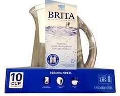 Brita Water Filtration System Kit: 1 Pitcher (Large Capac...