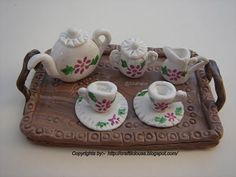 Craftlicious: Miniature Tea Set - Made with Polymer Clay