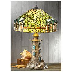 CASTLECREEK Tiffany-style Lighthouse Table Lamp