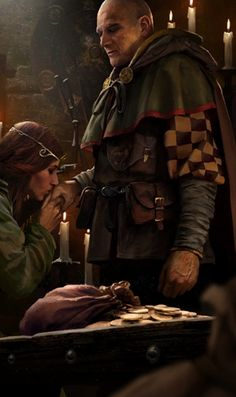 m Rogue Thief Guildmaster f Sorcerer kissing the ring urban city story Fantasy Character Design, Character Concept, Character Art, Concept Art, The Witcher, Witcher Art, Fantasy Male, Dark Fantasy, Fantasy Inspiration