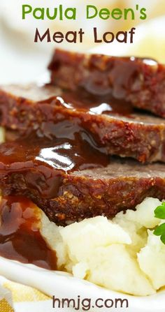 The original and the best! This recipe for Paula Deens Meatloaf is light and tasty and the zesty sauce is just perfect.