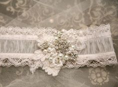 shear wedding garter with lace pearls and rhinestones, bridal garter. shear wedding garter with lace pearls and rhinestones, bridal garter. Wedding Hair Pins, Wedding Hair Accessories, Wedding Day, Lace Wedding, Dress Wedding, White Wedding Garter, Bride Garter, Hair Beads, Wedding Crafts