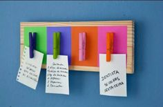notice board with pegs
