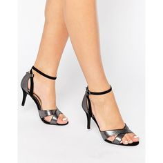 9e12f689a516 Head Over Heels By Dune Maddie Ankle Strap Silver Snake Print Heeled... (
