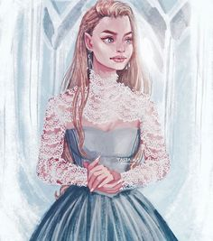 Aelin from Throne of Glass drawn by tasia.m.s on Instagram