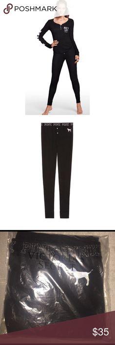 VS PINK Sold Out Black Thermal Pant NEW VS PINK Sold Out Black Thermal Pant - New in Bag PINK Victoria's Secret Intimates & Sleepwear Pajamas