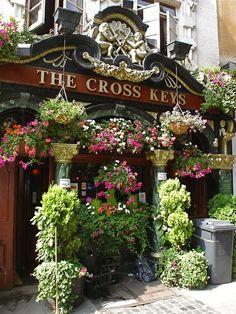 This lovely old pub in endell street, covent garden ~ london london pubs, pub British Pub, British Isles, Covent Garden, Flower Market, Flower Shops, Flower Cafe, Old Pub, Pub Signs, London Pubs