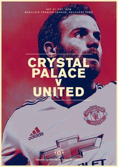 Match poster. Crystal Palace v Manchester United, 31 October 2015. Designed by @manutd