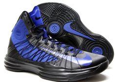 Mens Nike Hyperdunk 2012 Basketball Shoes Black / Game Royal Blue 524934-005 Size 10 Nike. $139.99